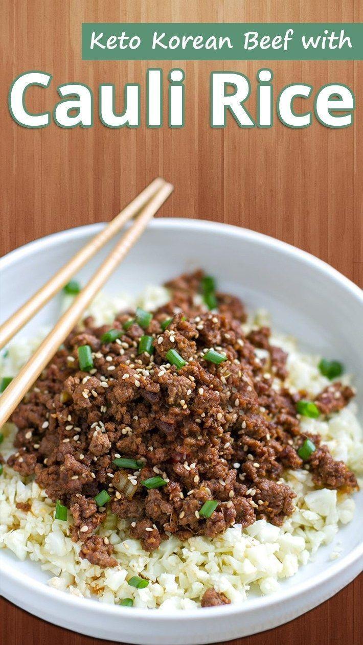 Keto Korean Beef with Cauli Rice images