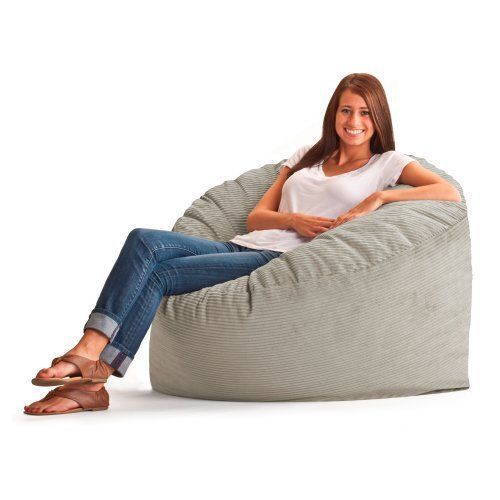 (2) Chair 3 ft. Wide-Wale Corduroy Bean Bag Lounger