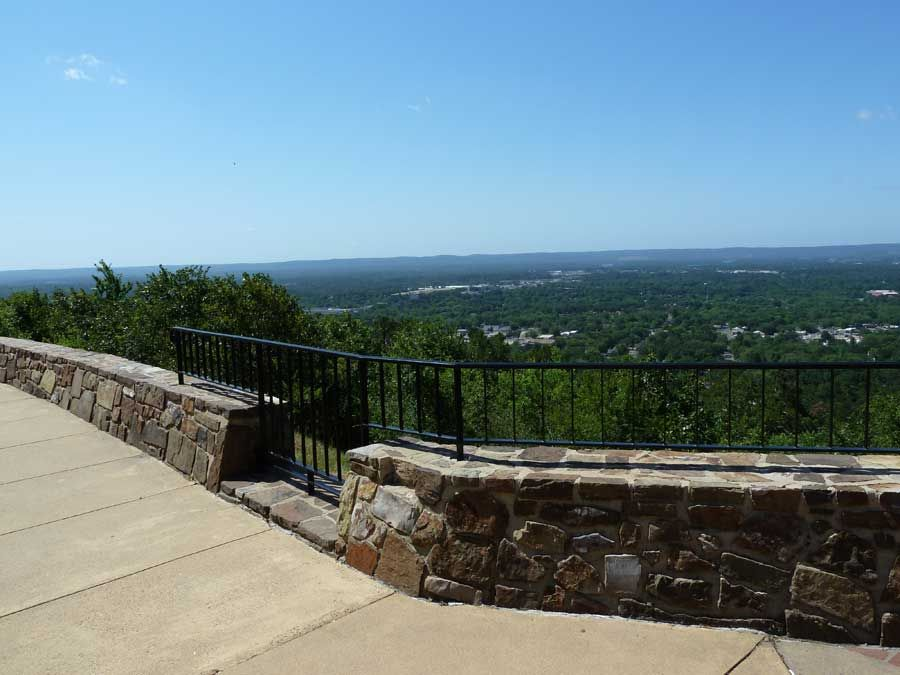 View from West Mountain Summit in Hot Springs Arkansas Where I
