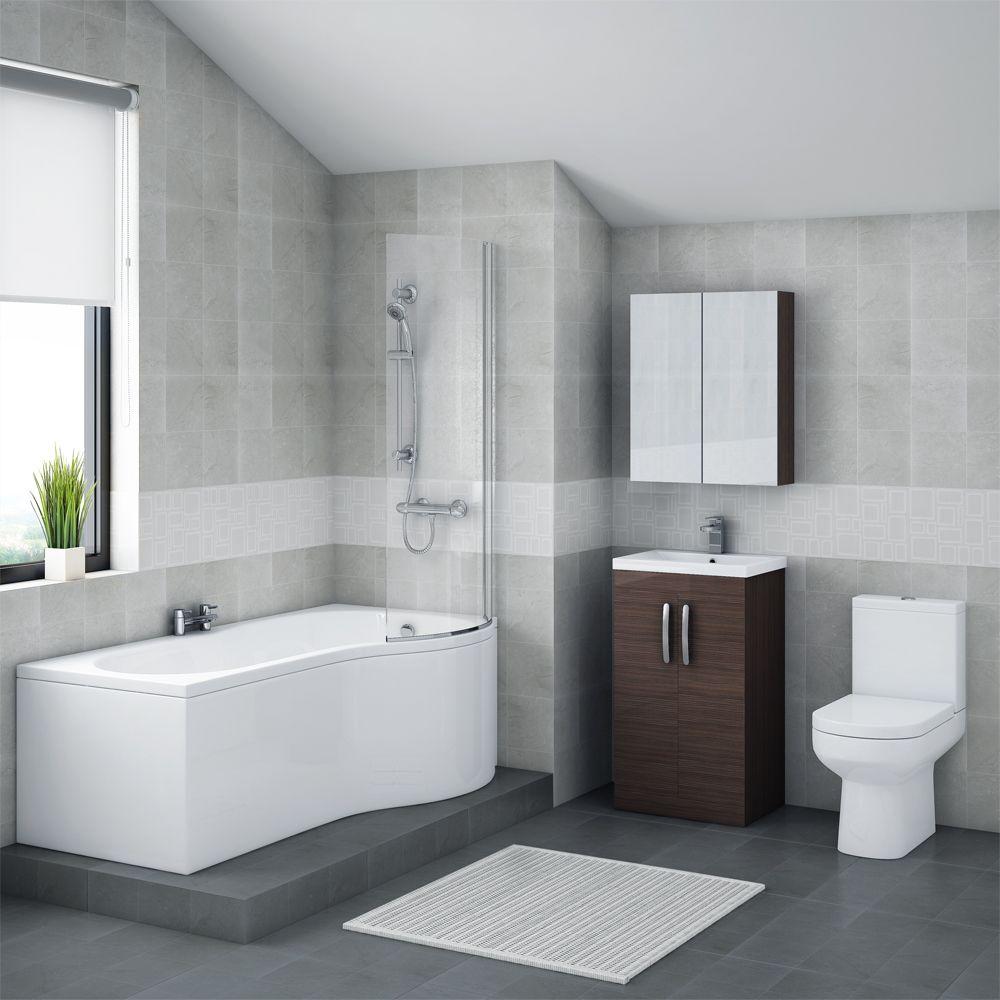 The sleek design of our Brooklyn Brown Avola Bathroom Suite with B ...