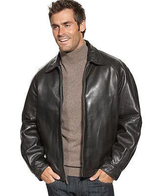 1996af1cb Perry Ellis Portfolio Coat, Lambskin Leather Bomber Jacket | Jacket ...