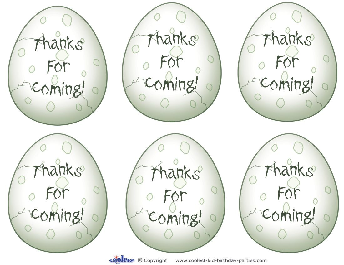 Printable Dinosaur Egg Thank You Cards - Coolest Free Printables ...