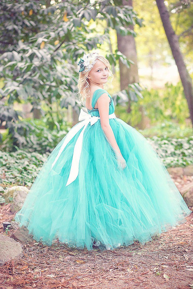 Teal Flower Girl Tutu Dress by littledreamersinc on Etsy, $60.00 ...