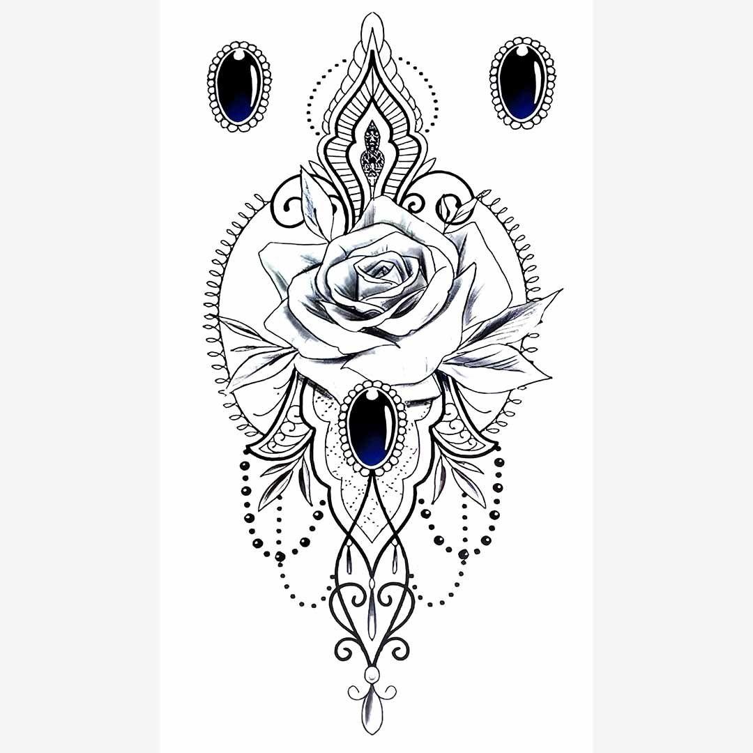 R-BC-108 Chest Temporary Tattoo Sticker 13.8*24 CM(5.4*9.4