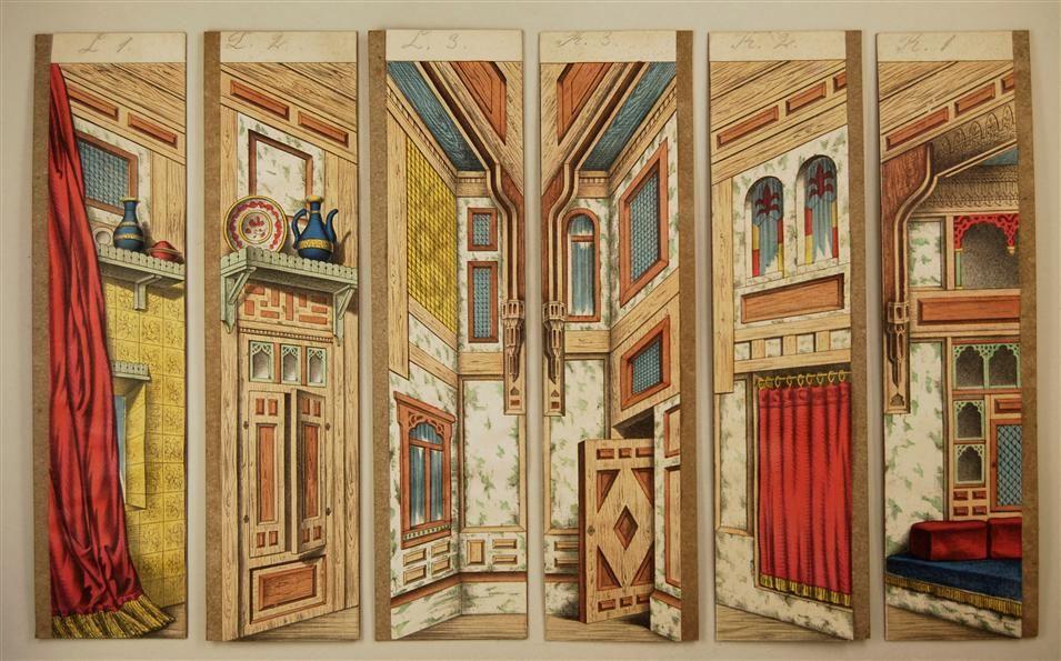 Maurisches Zimmer. Seitenkulissen. Von Schreiber Nr. 43 [Alte Serie].