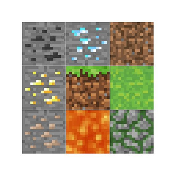 How To Make Pixel Art In Minecraft Bedrock 5 X 5 Minecraft Blocks Clip Art 13 Different By Wgprintables 8 00 Minecraft Room Decor Minecraft Room Minecraft Bedroom