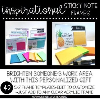 Inspirational Sticky Note Frames (5x7) | Frame template, Room mom ...