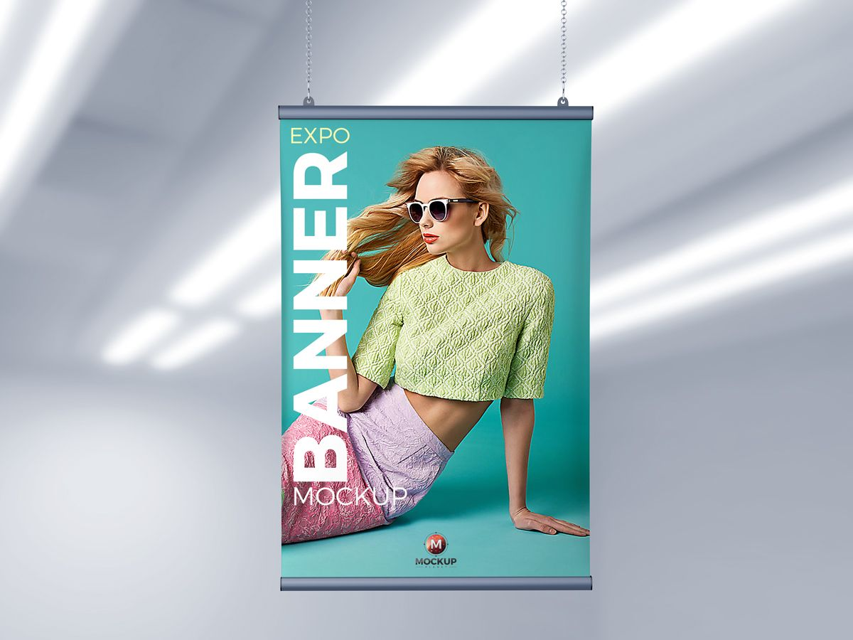 Free Indoor Expo Ceiling Banner Mockup Psd For Branding Mockup Psd Mockup Free Mockup