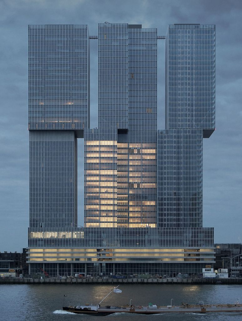 nl rotterdam de rotterdam hybrid building with offices apartments hotel architect oma. Black Bedroom Furniture Sets. Home Design Ideas