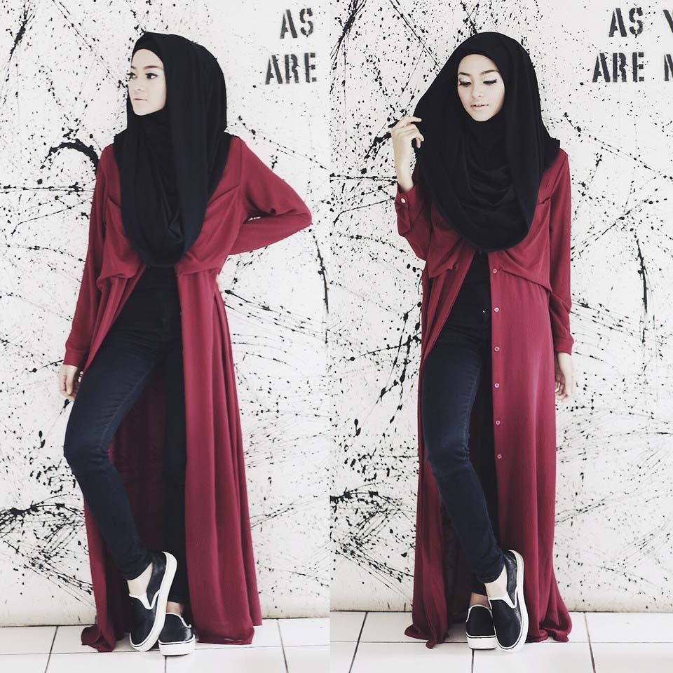 Hijab Tutorial In The Casual Style Hijab Pinterest
