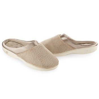 Isotoner Women's Microterry Pillowstep Satin Cuff Clog ...