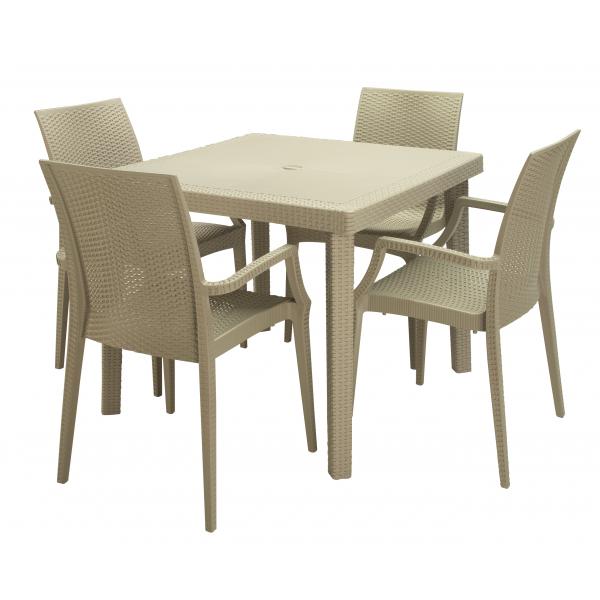 Tavoli in polyrattan modello boheme da esterno economici for Tavoli da terrazzo