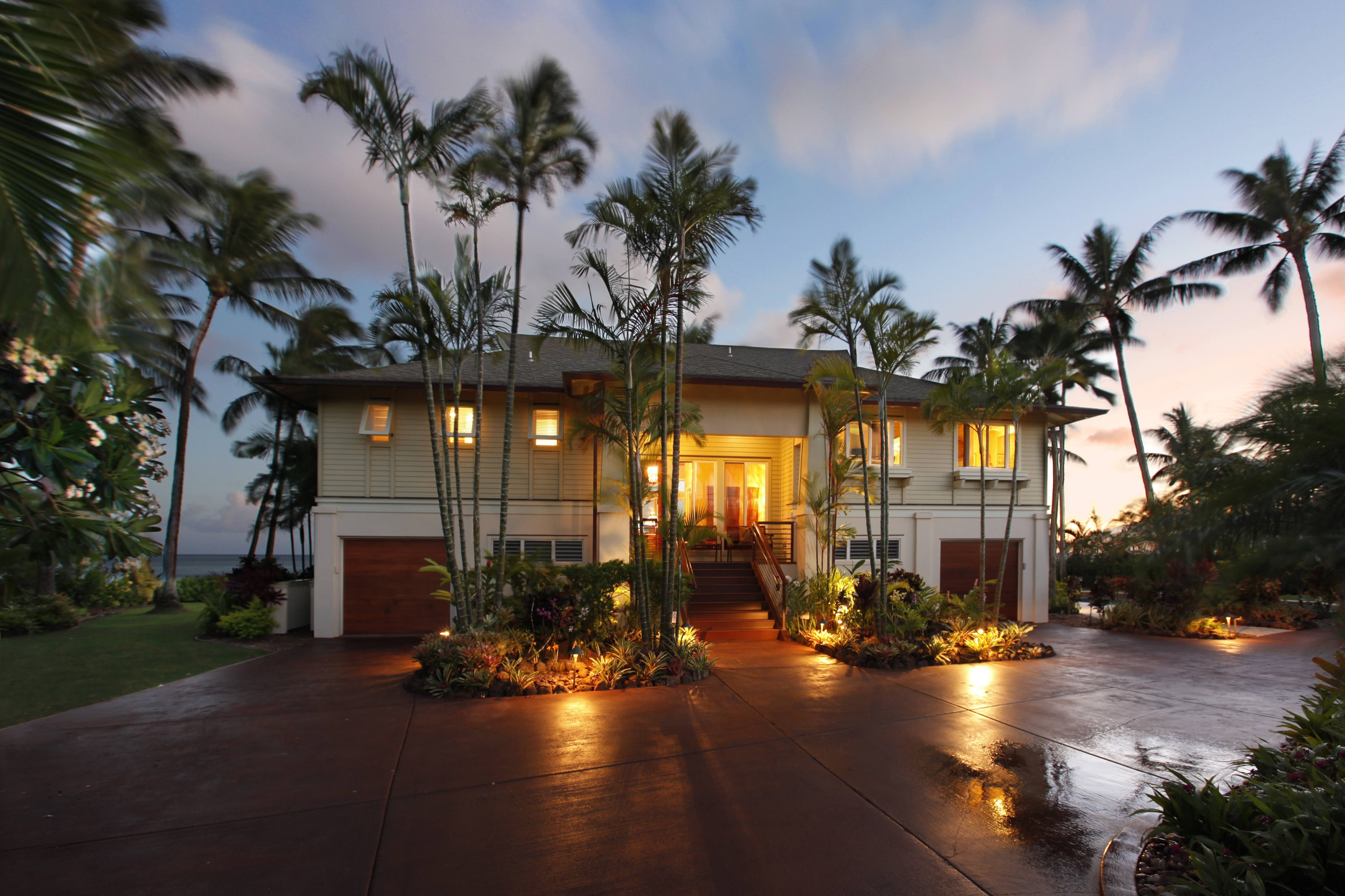 Poipu Luxury Oceanfront Home For Sale is part of Luxury home Hawaii - Poipu's desirable Lawai Beach Road is host to arguably the best waterfront south shore homes on Kauai  Hale A Kai is certainly one  Featuring a sandy