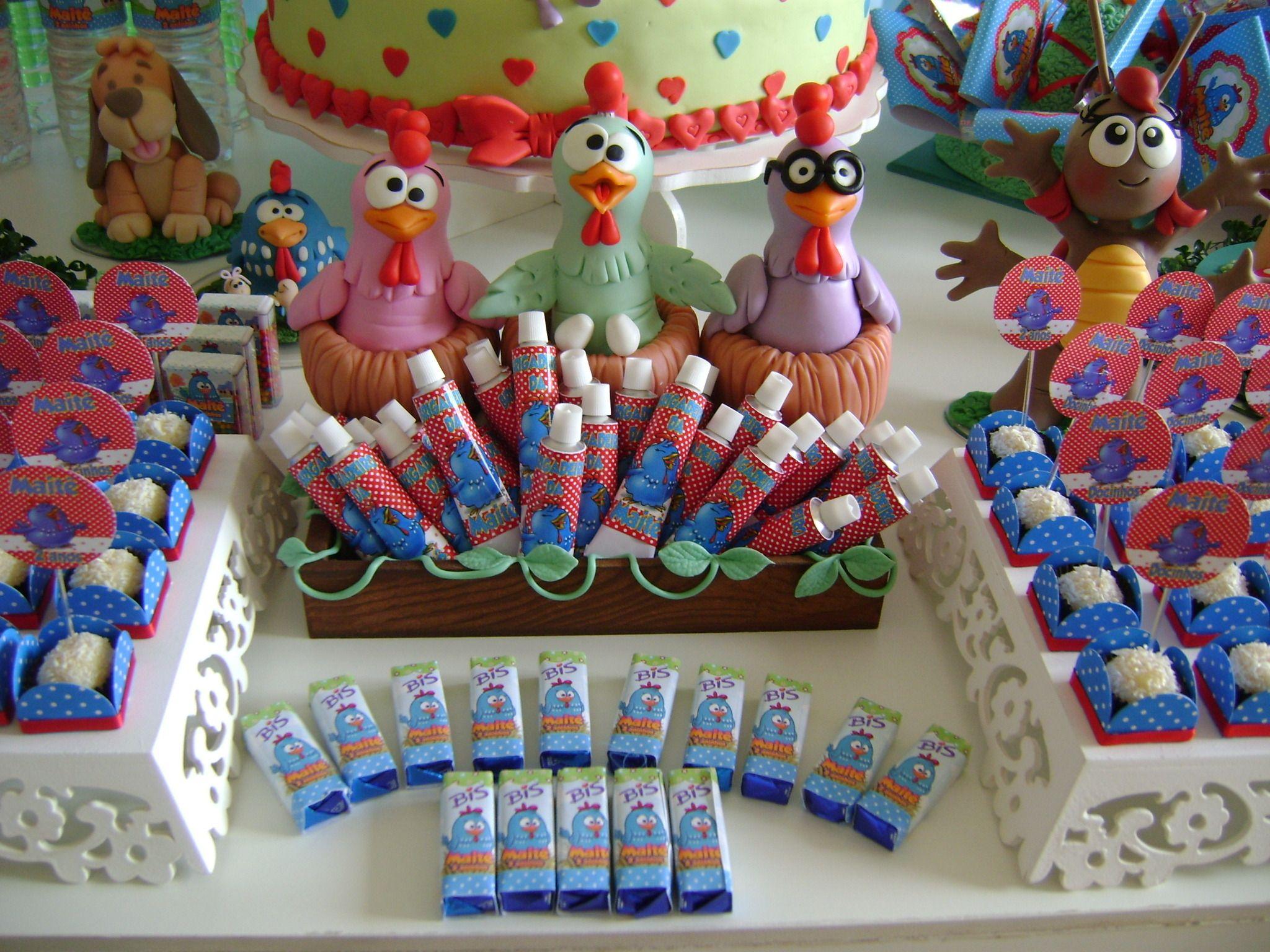 ideias mesa aniversario galinha pintadinha - Pesquisa Google