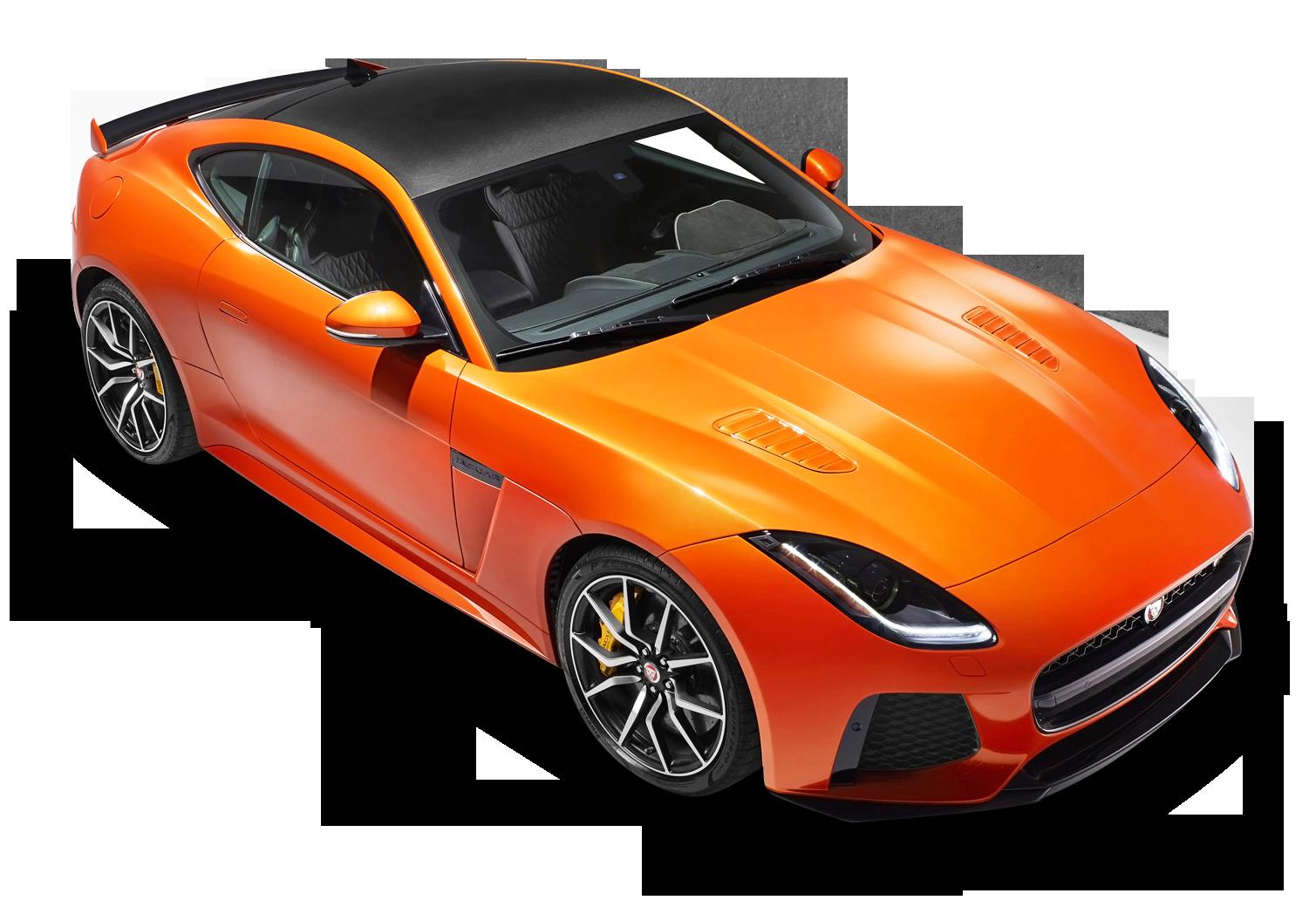 Orange Jaguar F Type Svr Coupe Top View Car Png Image Jaguar F Type Car Jaguar