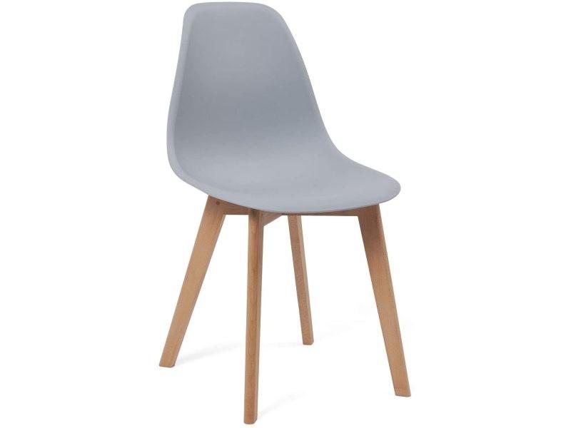 chaises cuisine style scandinave lot
