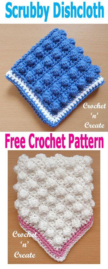 Scrubby Dishcloth UK Free Crochet Pattern | Crochet Dishcloth ...