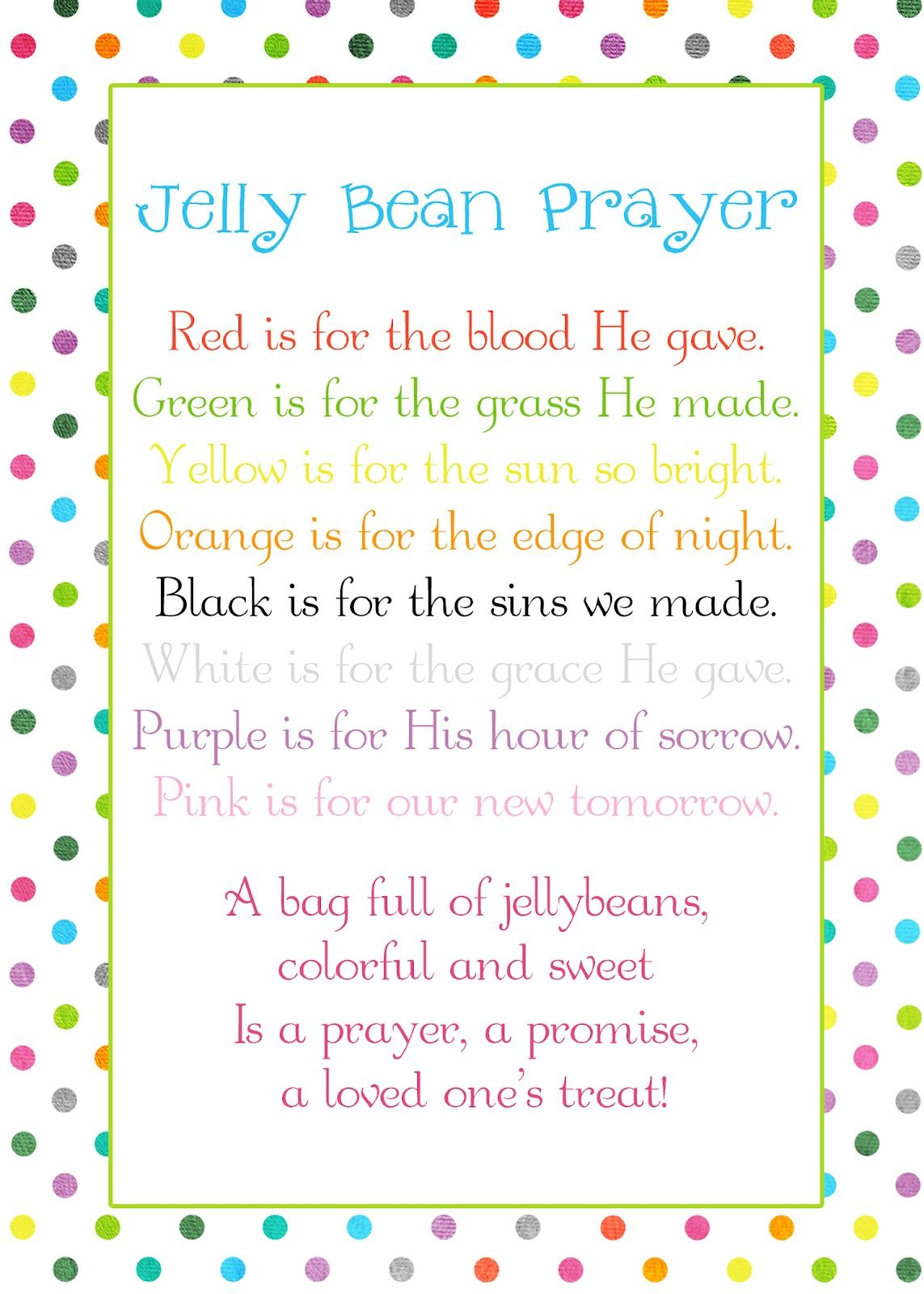 A pocket full of lds prints jelly bean prayer poem easter a pocket full of lds prints jelly bean prayer poem easter freebie negle Images