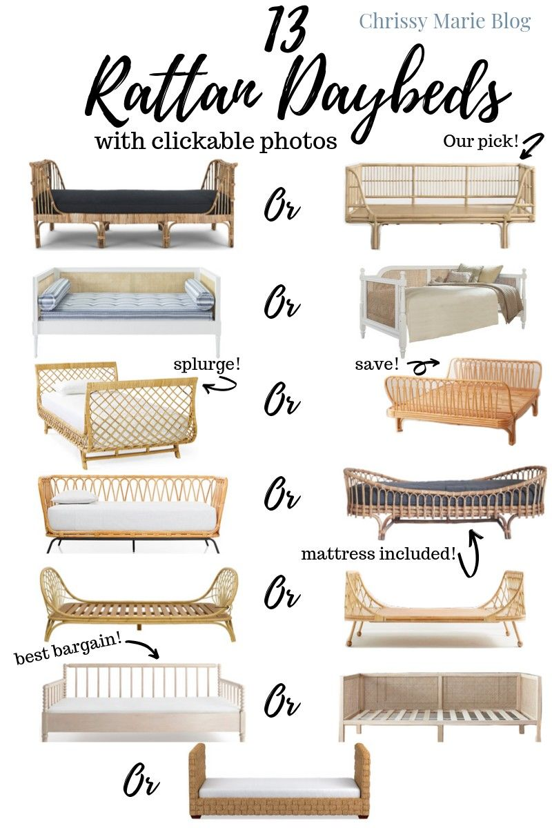 13 Pretty Rattan Daybeds & How To Style Them
