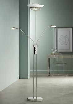 Halogen Three Light Torchiere and Reading Floor Lamp | Decor - Color ...