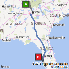 Map Of Port Charlotte Florida.Map From Lawrenceville Ga To Port Charlotte Fl Bing Party