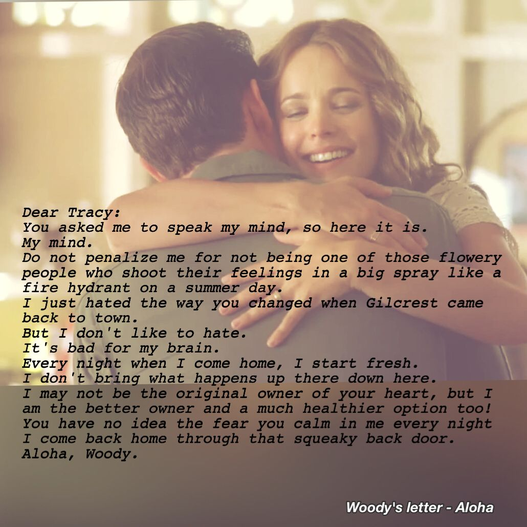 Aloha Movie Woody s Letter ❤️