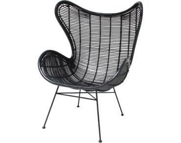 Stoel Hk Living : Stoel egg fauteuil zwart rotan hk living aafke home