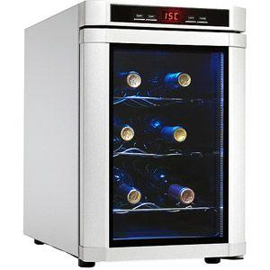 $99 Danby Maitre D' Premium 6-Bottle Wine Chiller, Platinum
