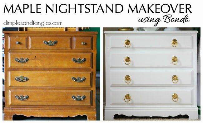 Maple Nightstand Makeover Nightstand Makeover Furniture Makeover Diy Furniture Makeover