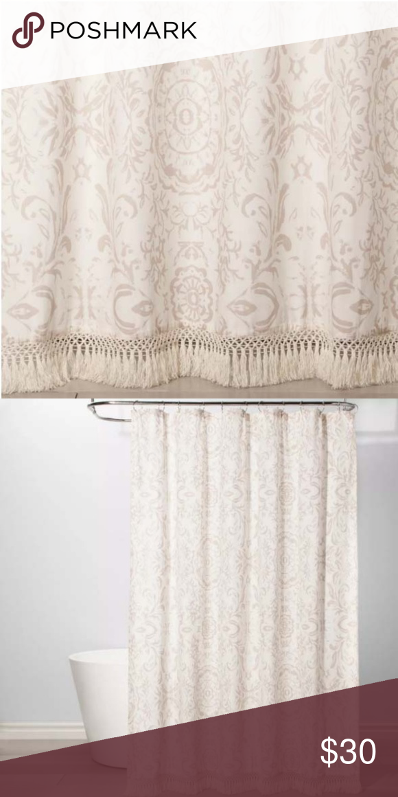 New Exploded Floral Shower Curtain Off White Brand New Shower