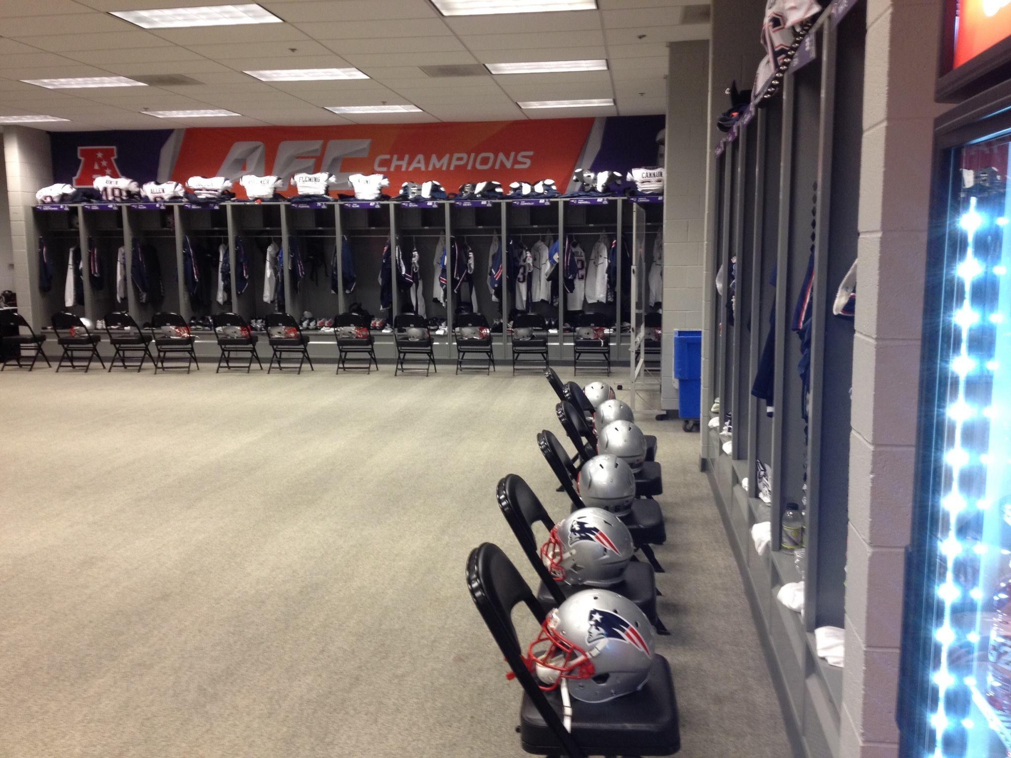 Super Bowl Locker Room New England Patriots Football Patriots Football Super Bowl Xlix
