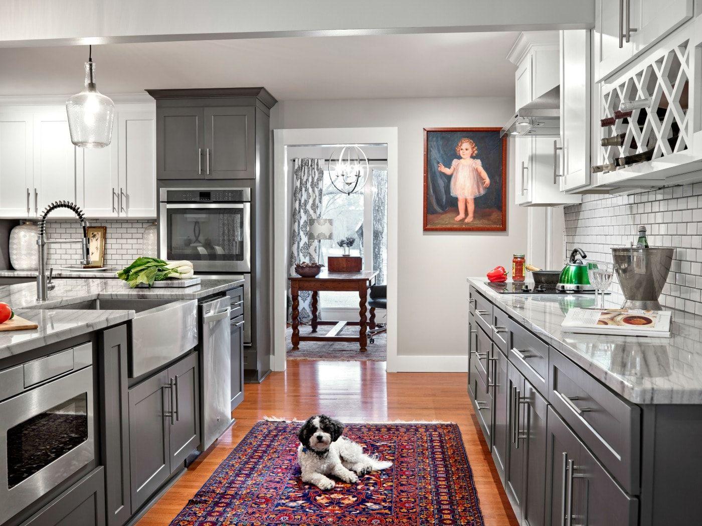 Sanibel Shaker Gray Kitchen Dining Room Combo Layout Custom Kitchen Cabinets Kitchen Dining Room Combo