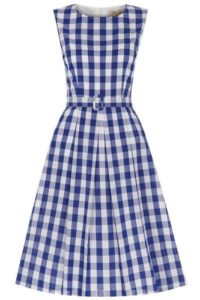 5b0a42089fe Lindy Bop Colette Royal Gingham Dress