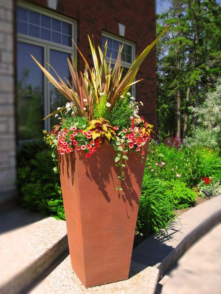 27++ Idee composition jardiniere exterieure inspirations