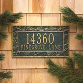 Found it at Wayfair - Pinecone Frame Standard Address Plaque