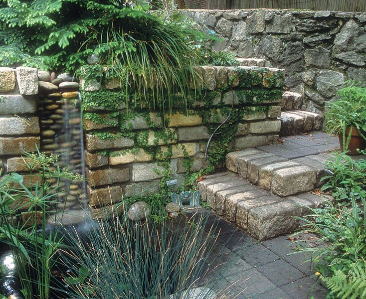 Small yard pond ideas creating a private haven fine for Waterfall garden feature