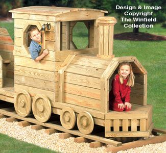 Locomotive Play Structure Plans | Play structure ...