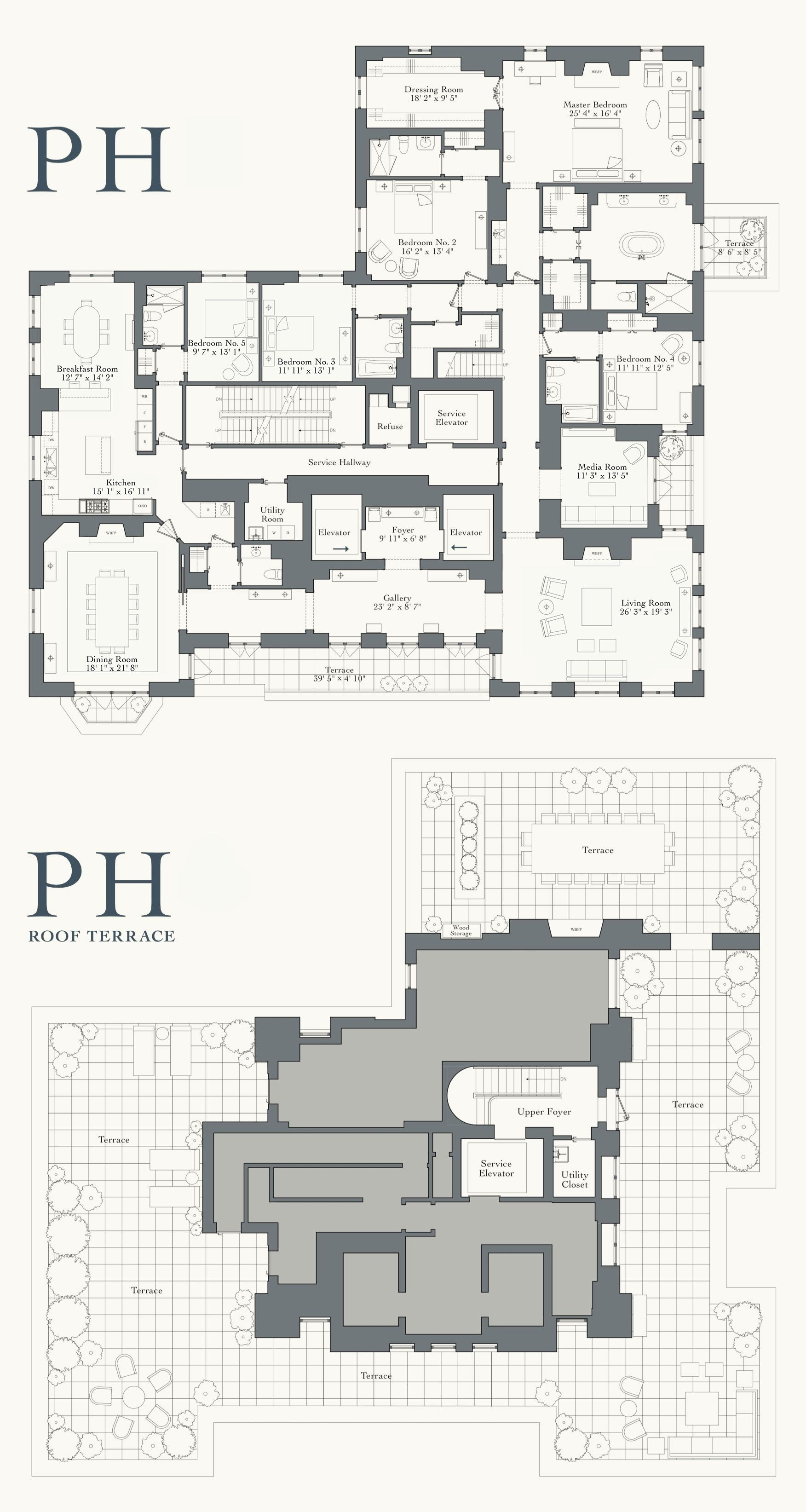 New Upper East Side Condos Penthouses 20 East End Avenue Penthouses Penthouse Apartment Floor Plan Pent House Condo Floor Plans