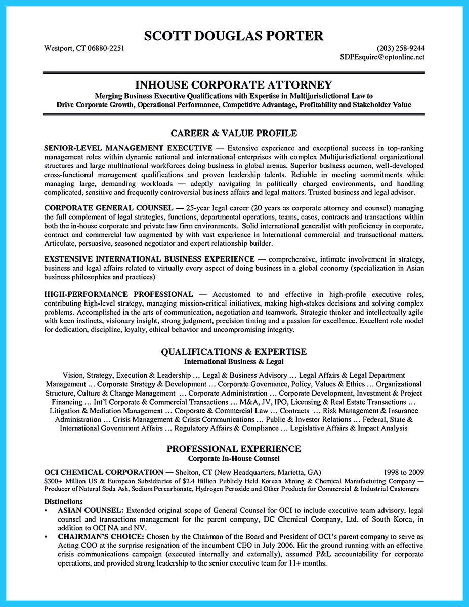 As You Are Confused On How To Arrange An Attorney Resume Sample