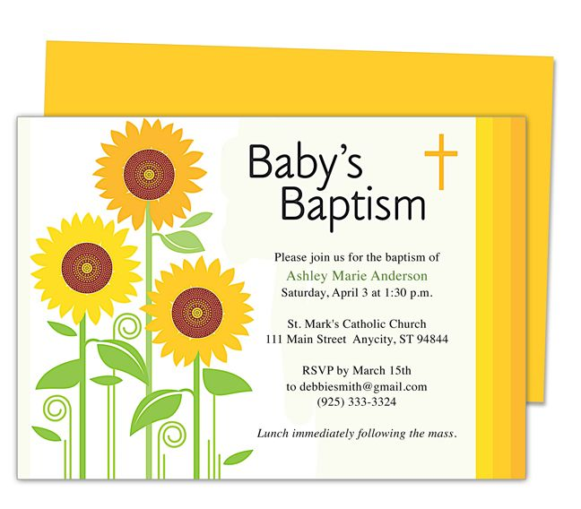 Sunflowers baby baptism invitation templates editable with word sunflowers baby baptism invitation templates editable with word publisher apple iwork pages openoffice stopboris Images