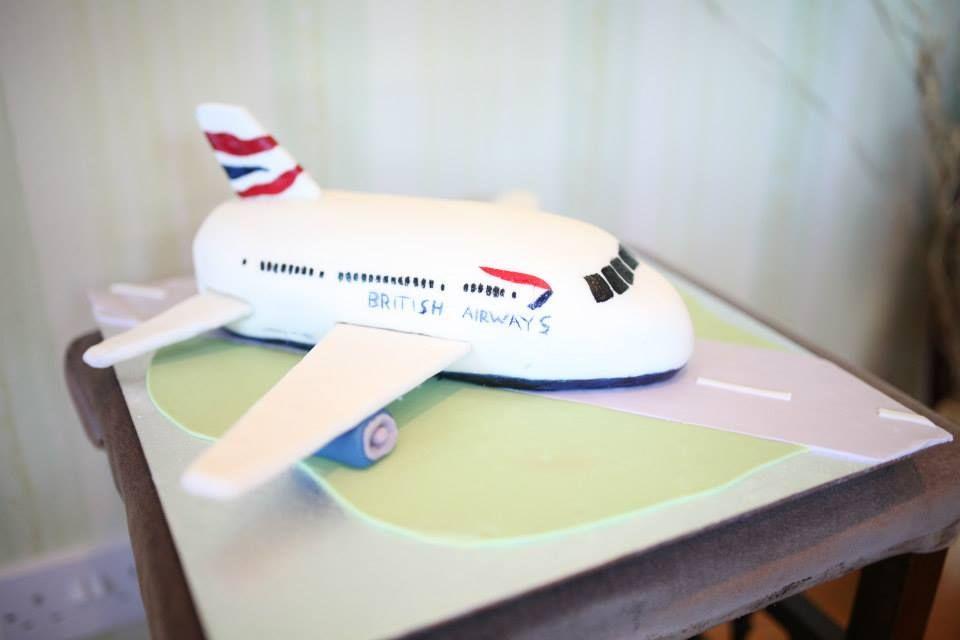 Outstanding British Airways 777 Airplane Birthday Cake Made With Marshamallow Funny Birthday Cards Online Inifofree Goldxyz