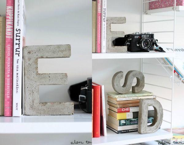 letters beton
