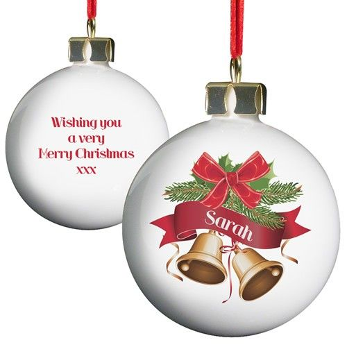 Personalised Traditional Bells Bauble  from Personalised Gifts Shop - ONLY £10.99
