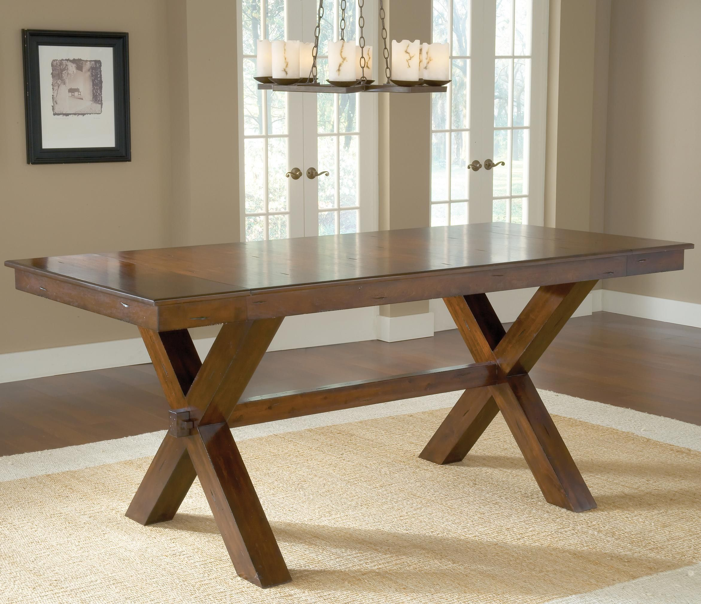 Park Avenue Counter Height Trestle Table by Hillsdale