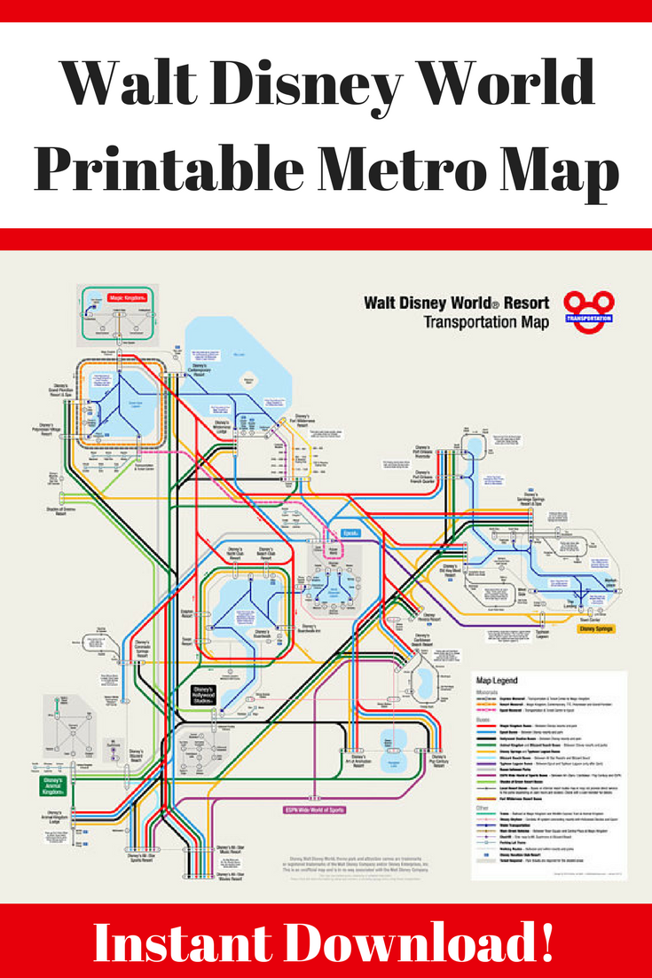 Disney Transportation Map on
