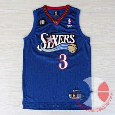 Allen Iverson #3 Philadelphie 76ers-JERSEY Débardeur noir