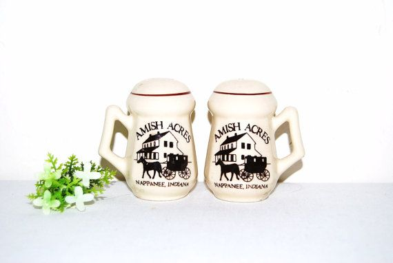 Vintage Amish Salt and Pepper Shakers by CheekyVintageCloset, $9.50