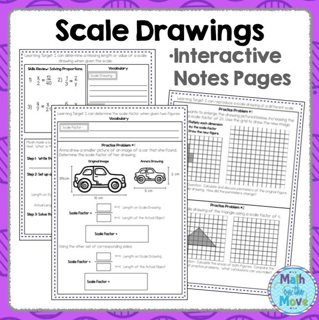 Scale Drawings Notes And Practice 7 G 1 Scale Drawing