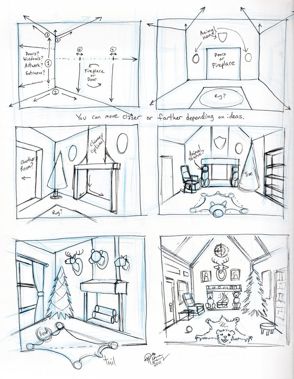One Perspective Drawing Room: Draw A Room By ~Diana-Huang On DeviantART
