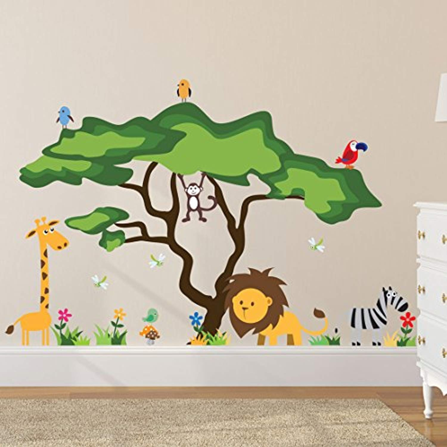 Timber Artbox Cute Animals In The Jungle Wall Decals Giant